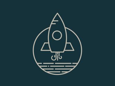 Rocket Icon pen icon line design shopware