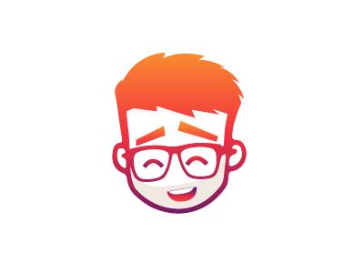 Avatar red smile dribbble brand warm self colorful branding colors avatar illustration illustrator rogie inspiration orange maroon