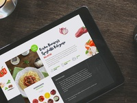 Cook A Box - Homepage food mockup revamp website ipad delivery ingredients homepage
