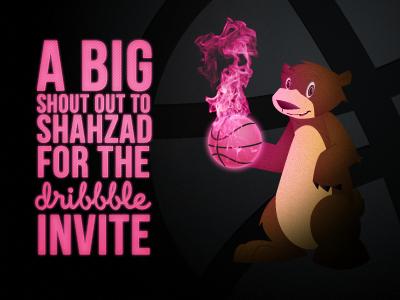 Thanks Bro. new dribbble debut invite first shot bear