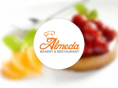 Almeda Bakery and Restaurant Logo logo design bakery restaurant food web