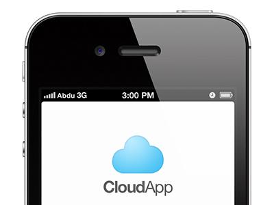 CloudApp Login design cloudapp app ui logo brand services blue share cloud unofficial fun apple ios iphone