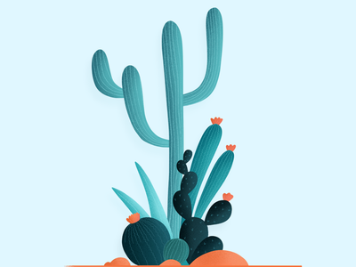 Cactus for life! cactus ipad ipadpro applepencil grains drawing illustration illustrator colors vibrant freestyle procreate