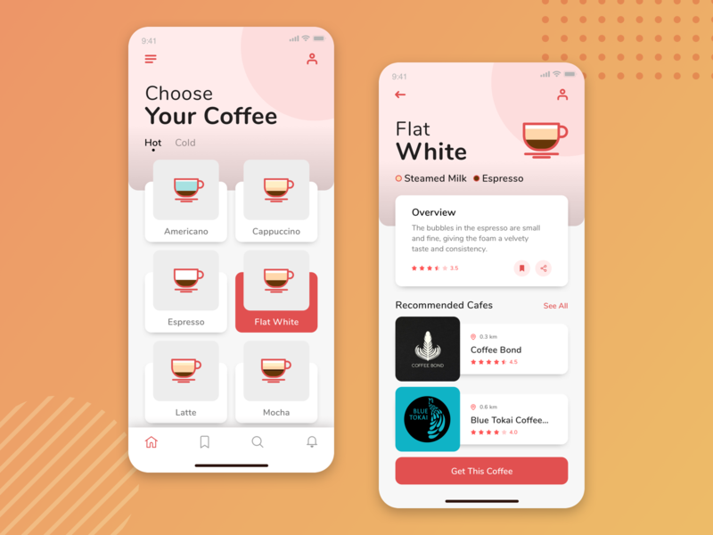 Coffee App Design