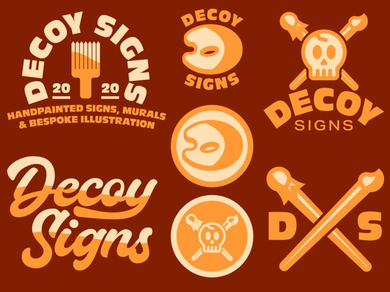 Decoy Signs branding design logodesign icons logo branding graphic illustrator graphic design illustration design