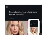 Responsive website showcase