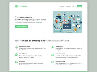 Testing Automation website concept automation testing website