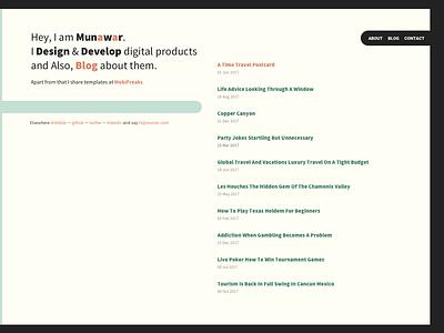 Munwr Homepage website