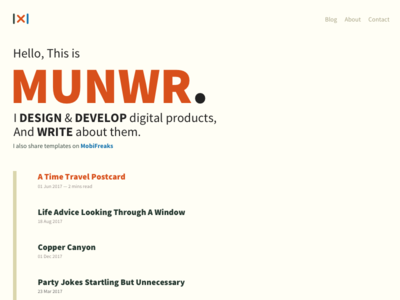 Munwr Homepage website