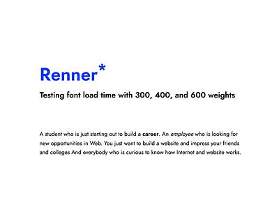 Renner Font Test website font
