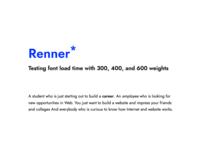Renner Font Test