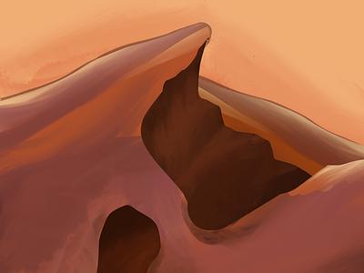 Caves procreate sketch illustration art