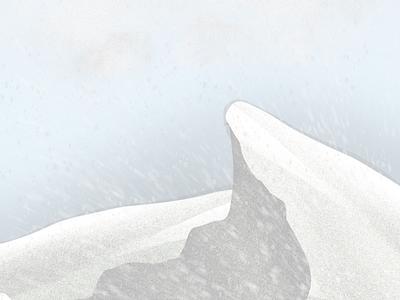 Snow Mountain mountain snow procreate digital art illustration art
