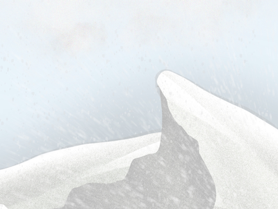 Snow Mountain mountain snow procreate digital art illustration art