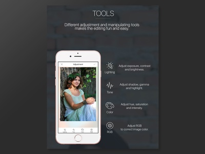 Facex Pro Tools illustrator image mock interface iconography icons ux design editor app ui