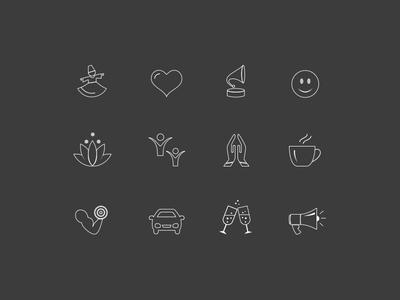 Music Moods Icon   Stroked stroke icon icon design icons moods music iconography