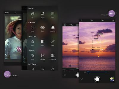 Customised app camera features advanced camera app design ux ui