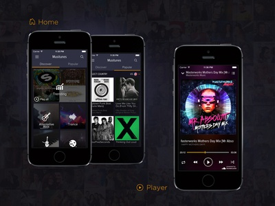 Music App   MusiTunes design interface ui player music music app