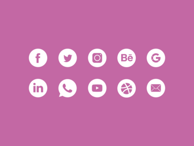Popular Icons material design icons social media popular iconography