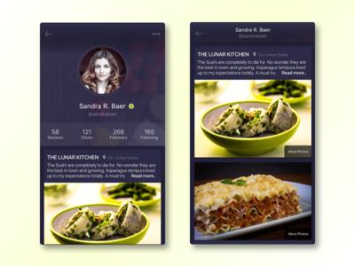 Profile UI mobile app profile design user interface ui