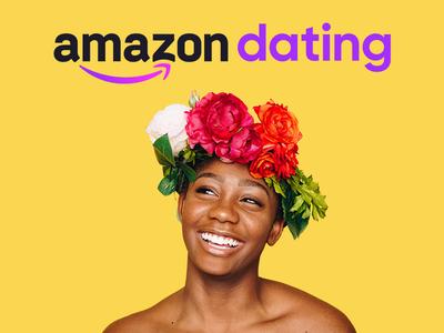 Amazon Dating Logo dribbbleweeklywarm-up photo color clean purple yellow brand branding redesign logotype logo dating amazon weekly warm-up dribbbleweeklywarmup