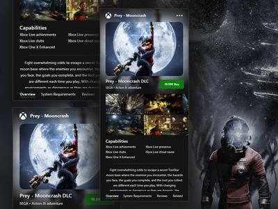 Xbox Game Pass App - Game Store black green branding concept iphone game website design microsoft prey ux ui mobile store application app xboxone xbox