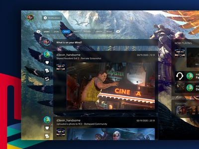 PlayStation 5 News console game news dashboard ps5 uiuxdesign interface playstation