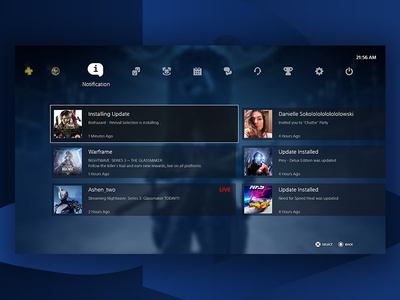 Playstation 5   Notification ps5 dashboard concept design game m4terial branding ui playstation5