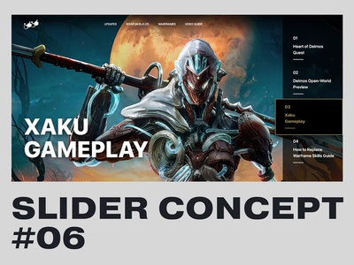 Slider Concept #06 m4terial website game ui grid minimal xaku warframe design slider