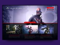 Warframe Website reskin
