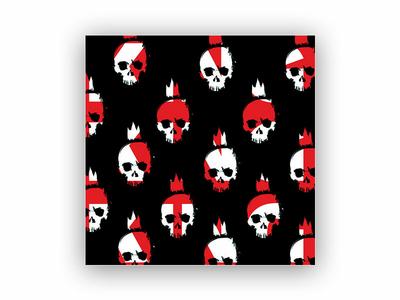 LazzyDog - Logo pattern art skull vector illustration clean design m4terial branding lazzydog logo pattern