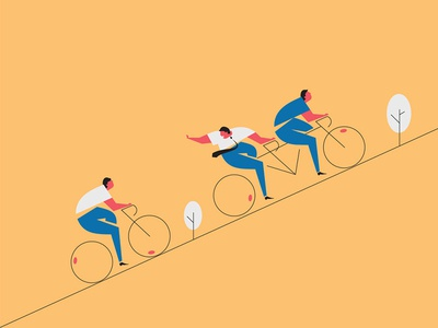 Bikes editorial bike illustation