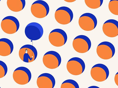 Republic of Patterns 1 party creep ballon dots illustration pattern