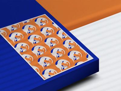 Dribble3 shadow branding dogs dog pattern postcard