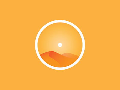 Sahara sun illustration icon desert