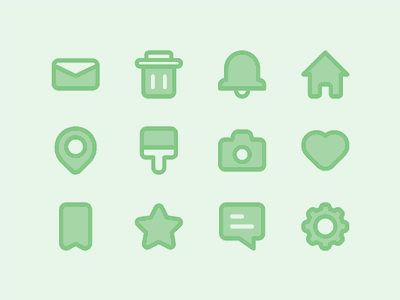 Interface Icon ui ux icon iconset illustration outline love home email star location pixel perfect