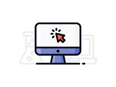 Creative Process (1/3) ui ux science flask laptop outline illustration icon pc mac creative