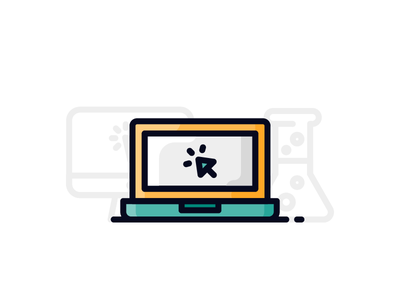 Creative Process (3/3) ux ui flask laptop creative mac pc icon illustration outline