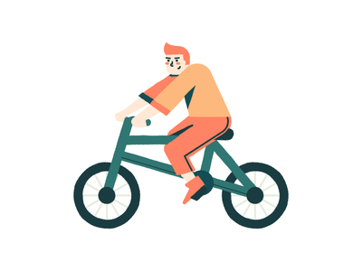 Cycling texture character bike illustration ride bicycle cycling