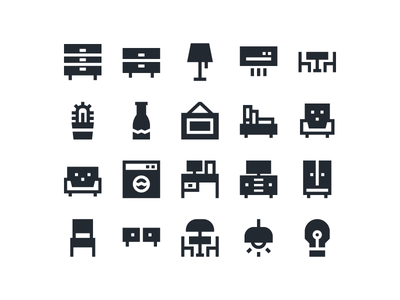 Furniture and Interior Icon furniture interior icon icon set cactus sofa chair book vase icon pack iconfinder