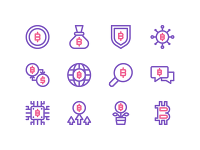Bitcoin Icon freebie mining cryptocurrency ux ui symbol sign mark money currency bitcoin icon