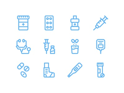 Medicaments Icon Pack freebie medicine hospital health medicament medical iconset ux ui icon