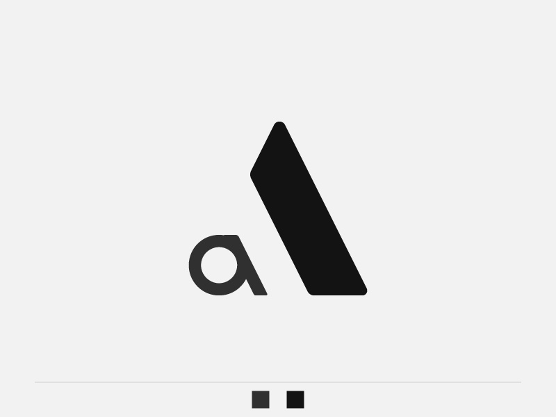 A + a (exploración 2) wacom monogram letter logo illustrator graphic design exploration d2 branding alphabet adobe a