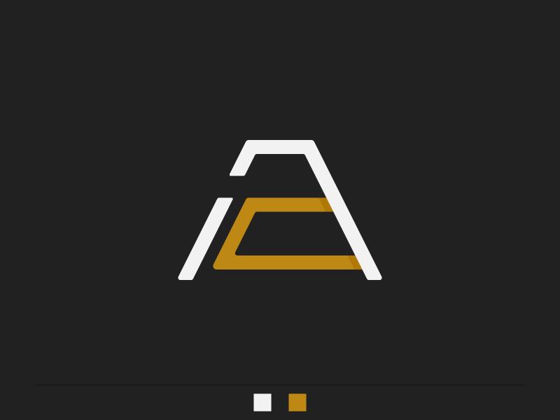 A-zteca (A + a, exploración) vector precolumbian monogram logo letter illustrator graphic design exploration d2 branding alphabet adobe a
