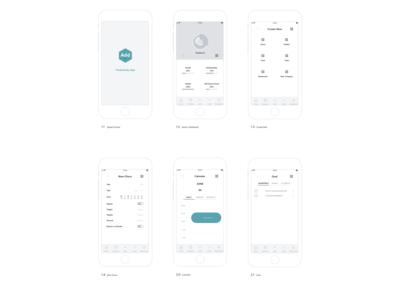Add Productivity App Wireframe