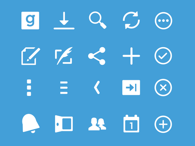 Guidebook Android Icons guidebook android icons icon-set