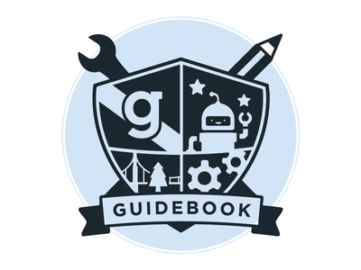 Guidebook Crest v3 guidebook crest pencil wrench gears shield