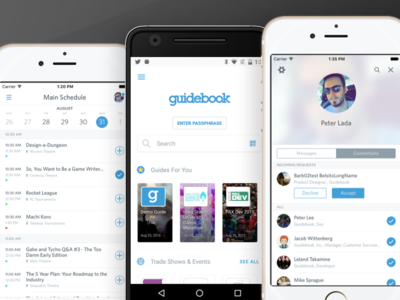 Guidebook 4.0 platform app redesign guidebook