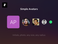 Framer X Avatar Component