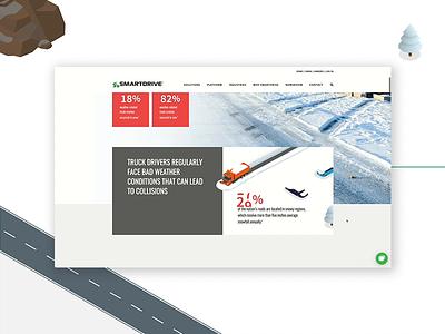 SmartDrive Landing Pages design ui ux web website design landing page infographic